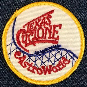 Texas Cyclone Astroworld souvenir patch